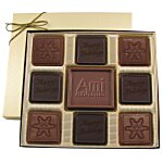 Centerpiece Chocolates - 6 oz. - Happy Holidays & Snowflake