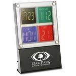 4 Square Clock and Thermometer