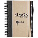 Eco Design Recycled Color Spine Spiral Notebook