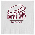 Beverage Napkin - 1-ply - White - Low Qty