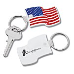 US Flag Stock Soft Key Tag