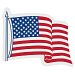 Waving Flag Sticker - Adhesive on Back