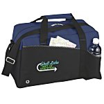 Two-Tone Duffel Bag - Embroidered