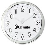 Shiny Chrome Wall Clock - 11
