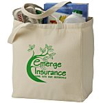 V Natural Recycled Cotton Grocery Tote