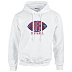 Gildan 50/50 Hooded Sweatshirt - Applique Twill - White