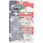 Bic 20 mil Calendar Magnet  Medium  Waving Flag