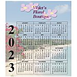 Bic 20 mil Calendar Magnet  Small  Seashore