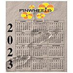 Bic 20 mil Calendar Magnet  Small  Footprints