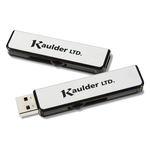 Metal Retractable USB Drive - 1GB