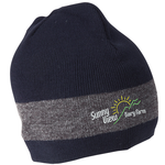 Fine Knit Single Stripe Beanie