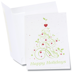 Seeded Holiday Card - Happy Holidays