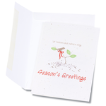 Seeded Holiday Card - Let Heaven & Nature Sing