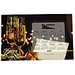 Greeting Card w/Magnetic Calendar - Champagne