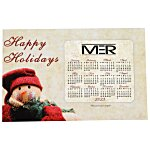 Greeting Card with Magnetic Calendar - Snowman