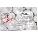 Greeting Card w/Magnetic Calendar - Ornaments