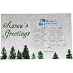 SuperSeal Greeting Card w/Magnetic Calendar - Snowfall