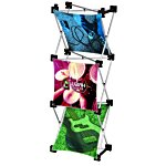 Geometric Junior Pop-Up Tabletop Display - 3 Panel