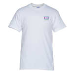 Gildan 5.3 oz. Cotton T-Shirt – Men's - Emb - White