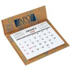 V Natural 3 Month Jumbo Pop-up Calendar - Geo Print