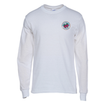 Gildan 5.3 oz. Cotton LS T-Shirt - Embroidered - White