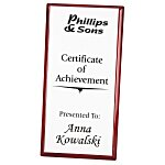 Rosewood Finished Plaque w/Aluminum Plate - 12
