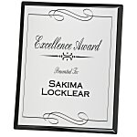 Black Finished Plaque w/Aluminum Plate - 10