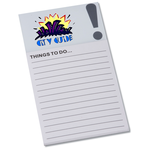 Bic Business Card Magnet with Note Pad - Exclamation