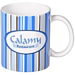 Silver Lake Stripe Designer Mug - 11 oz.