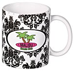 Pineapple Damask Designer Mug - 11 oz.