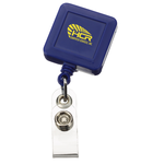 Economy Retractable Badge Holder - SQ - Opaque