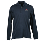 Egyptian Interlock Long-Sleeve Polo - Men's