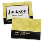 ATM/Debit Card Pocket Register - Executive Gold/Black