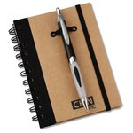 Eco Spiral Notebook w/Helix Pen - 6