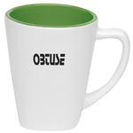Two Tone Square Ceramic Mug - 12 oz.