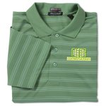 SolarShield UPF 30+ Jacquard Stripe Polo - Men's