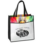 Laminated Sunburst Tote