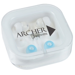 Ear Buds w/Interchangeable Covers - Bright White