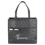 Laminated Quilted Carry-All Tote