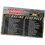 NASCAR Racing Schedule Magnet - 20 mil