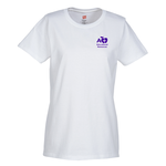 Hanes ComfortSoft Tee - Ladies' - Screen - White
