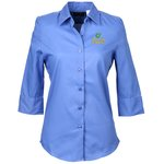 Soft Collar  Sleeve Poplin Shirt  Ladies