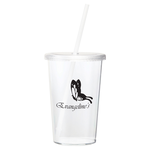 Sizzle Single Wall Tumbler w/Straw - 16 oz.