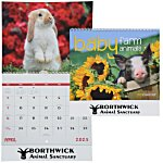 Baby Farm Animals Calendar - Spiral