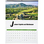 Golf Landscapes Calendar w/2-month view
