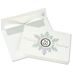 Die-Cut Prismatic Snowflake Greeting Card