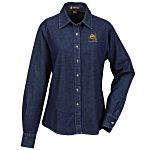 Harriton Long Sleeve Denim Shirt - Ladies'