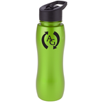 ShimmerZ Slim Grip Bottle with Flip Straw Lid - 25 oz.