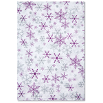 Tissue Paper - Silver & Purple Snowflakes
