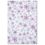 Tissue Paper - Silver & Purple Snowflakes